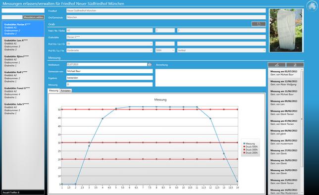 Screenshot Kipptester Software Messungen